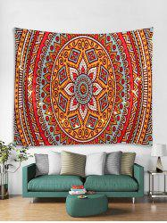 Bohemian Pattern Tapestry Wall Hanging with LED String Lights -