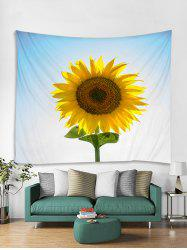 Sunflower Print 3D Wall Tapestry -