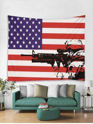 American Flag Soldier Art Decor Wall Tapestry -