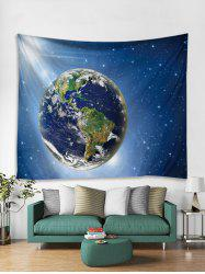 Universe Earth 3D Print Wall Tapestry -