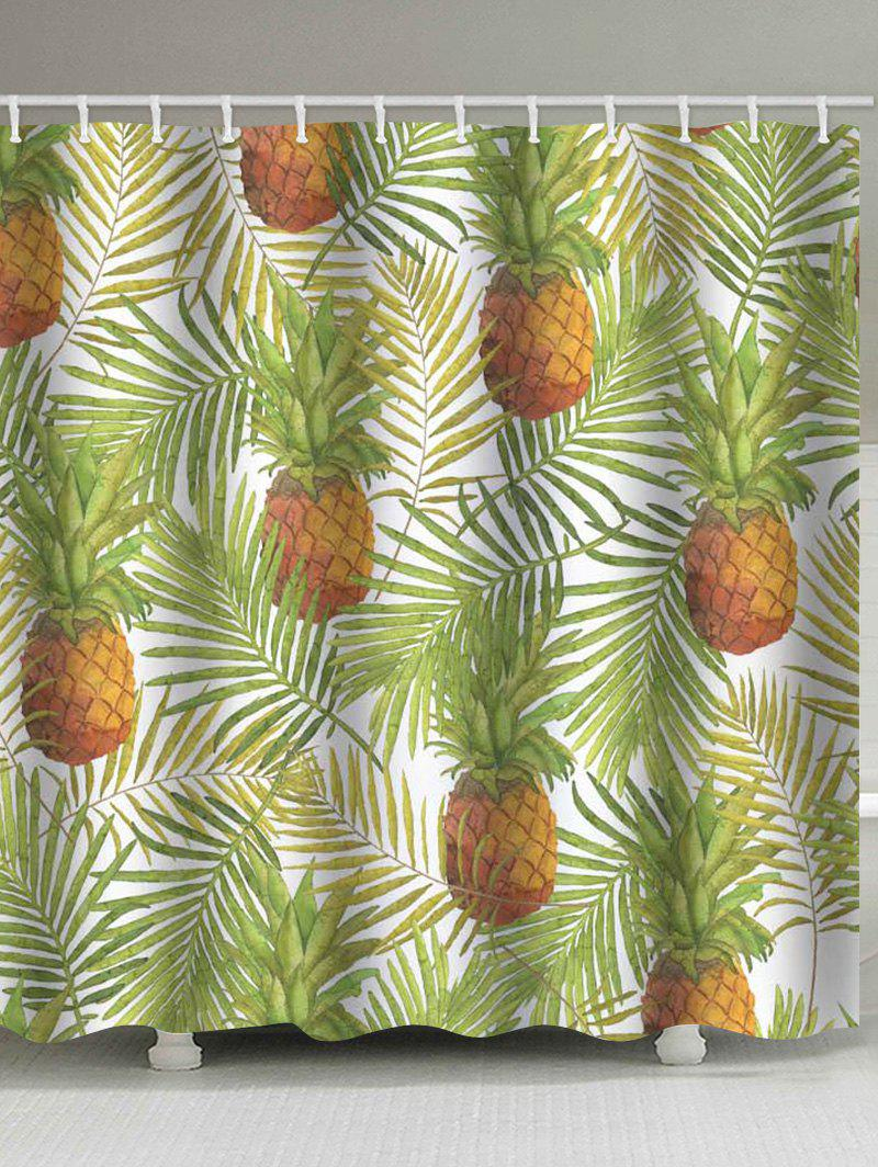Cheap Leaf Pineapple Waterproof Shower Curtain