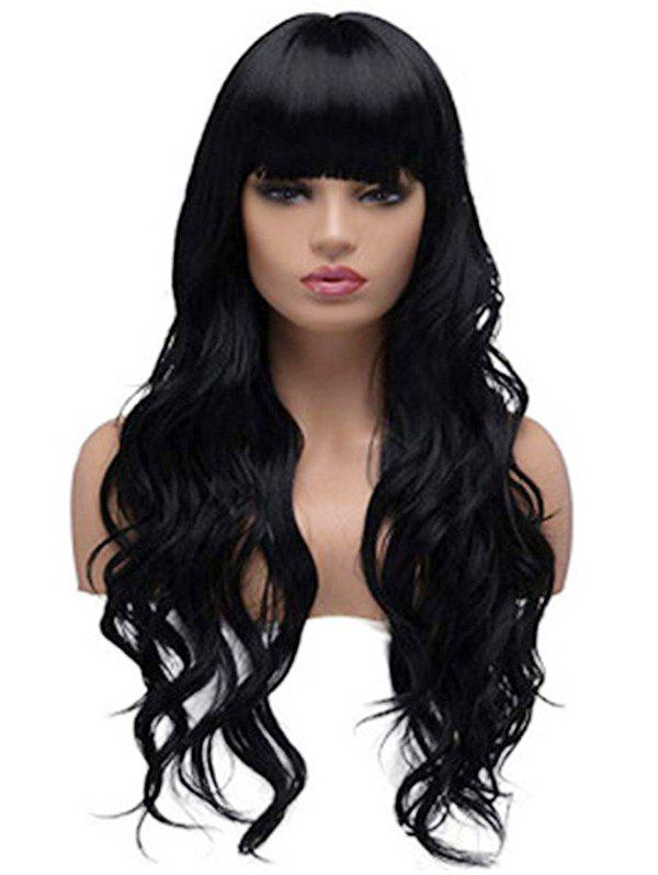 Discount Body Wave Neat Bang Long Synthetic Wig