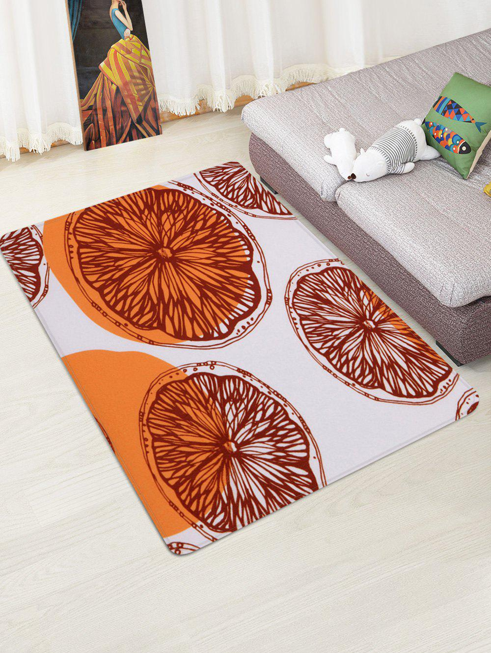Discount Orange Pattern Water Absorption Area Rug