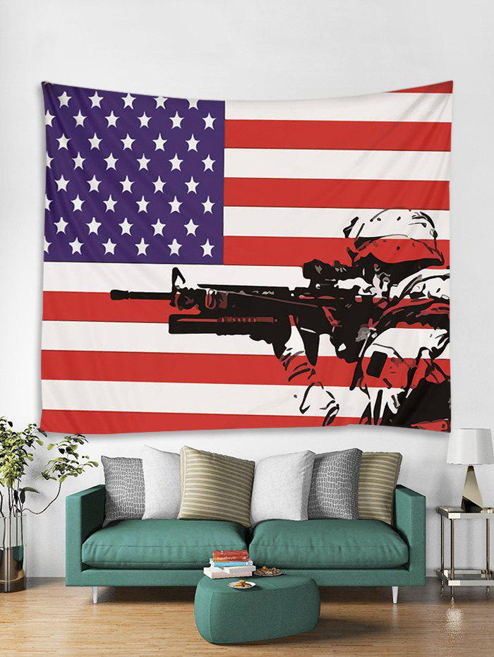 Affordable American Flag Soldier Art Decor Wall Tapestry