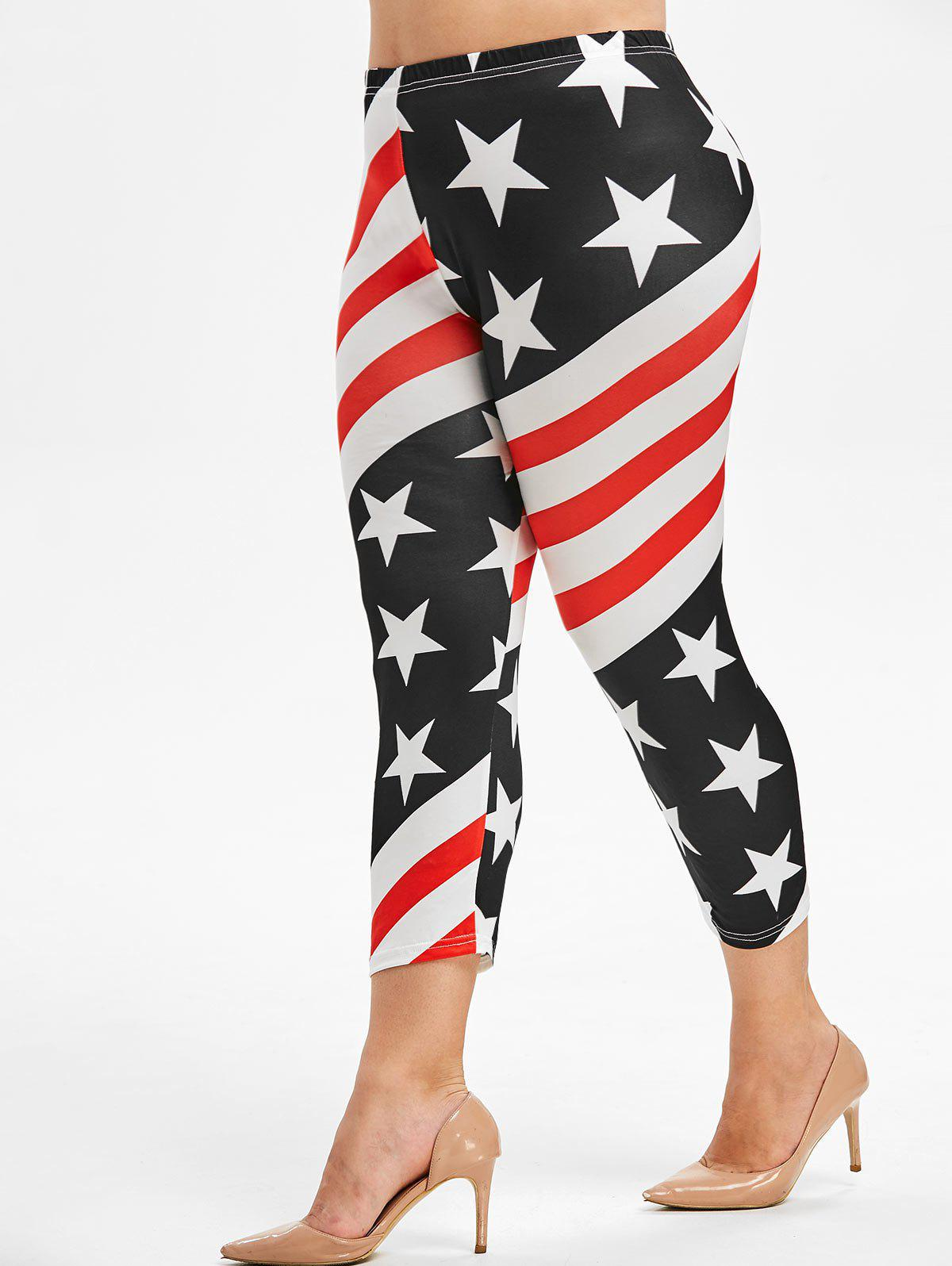 Buy Plus Size American Flag Leggings