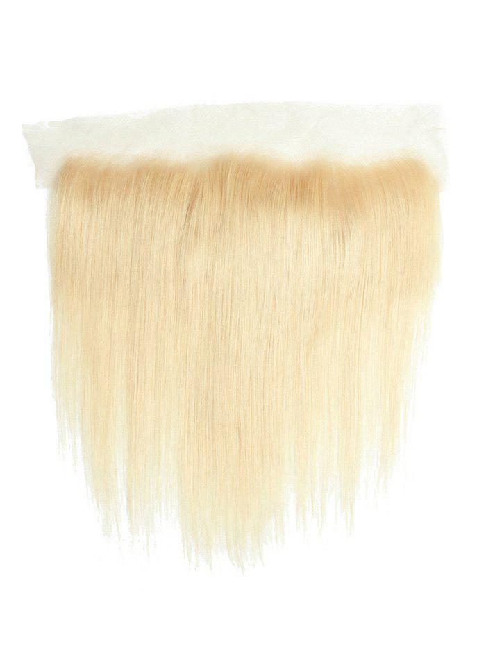 New Straight Solid Human Hair Weft with Lace Front