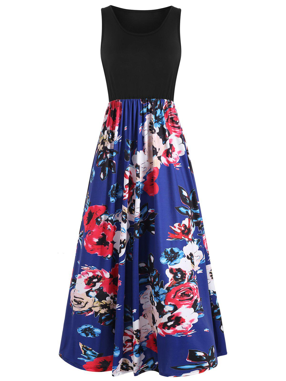 Outfits Flower Casual Long Tank Dress
