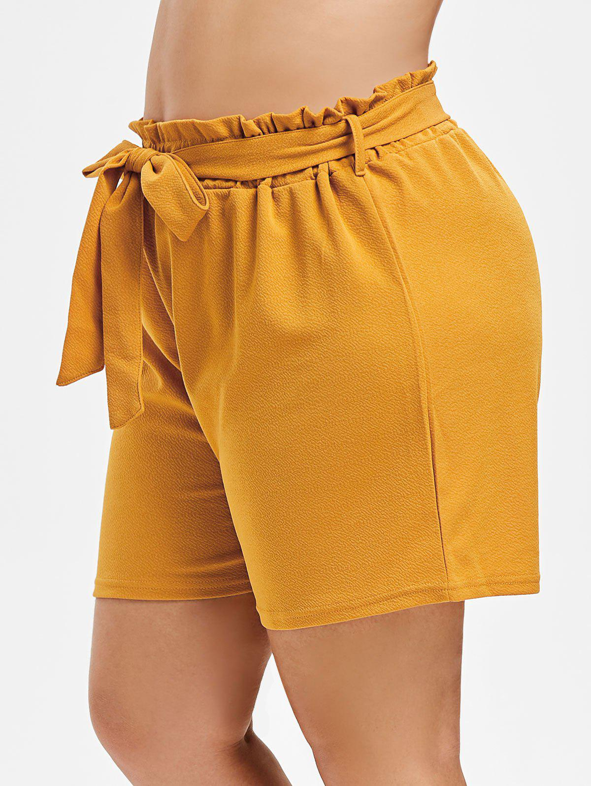 Hot Plus Size High Rise Paperbag Shorts