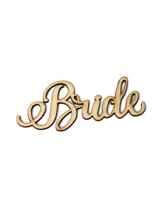 Best 5Pcs Wedding Decorations Bride Sign Wooden Board