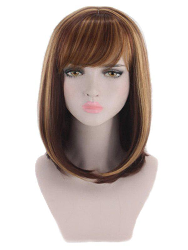 Outfits Synthetic Medium Straight Side Bang Wig