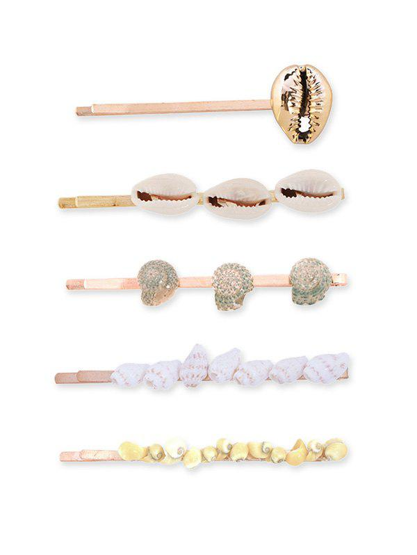 Fashion 5Pcs Shell Beach Hairpin Set