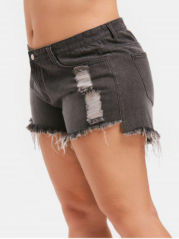 Ripped Plus Size Denim Shorts