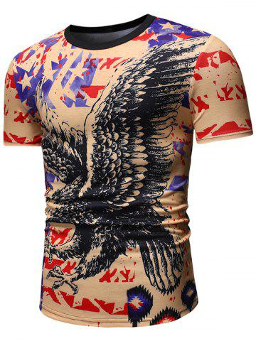 Eagle Pattern Casual Short Sleeves T-shirt