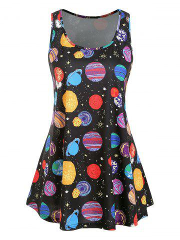 Plus Size Starry Sky Print Swing Tank Top