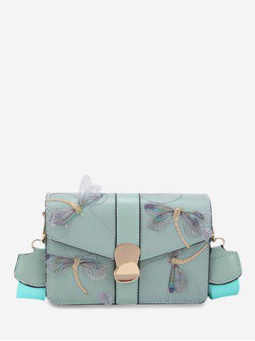 Embroider Dragonfly Crossbody Bag