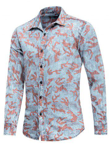 Camouflage Pattern Long Sleeves Shirt