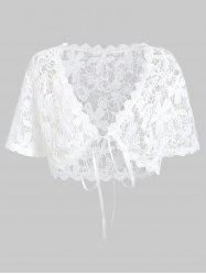 Plus Size Tied Lace Top -