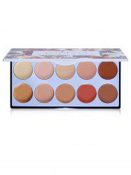 10 Color Concealer with Brush -