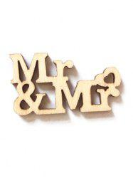 20Pcs Mr. And Mrs. Sign Wedding Decorations Wooden Board -