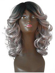 Side Part Medium Fluffy Body Wave Synthetic Wig -