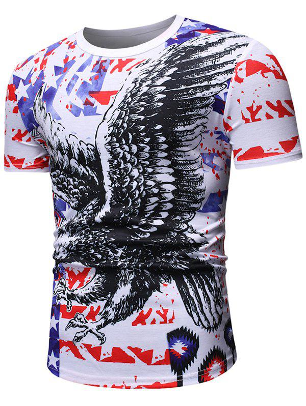 Buy Eagle Pattern Casual Short Sleeves T-shirt