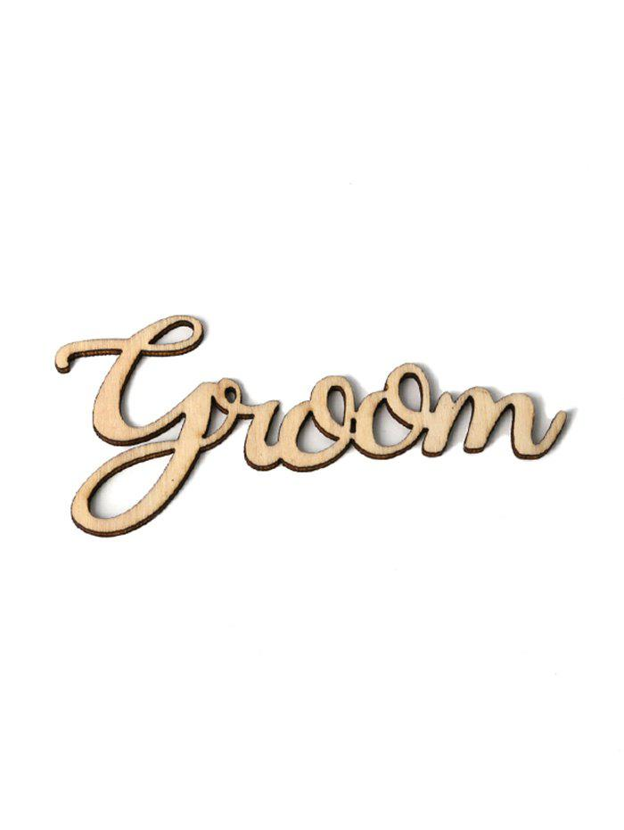 Outfit 5Pcs Wedding Decorations Groom Sign Wooden Board