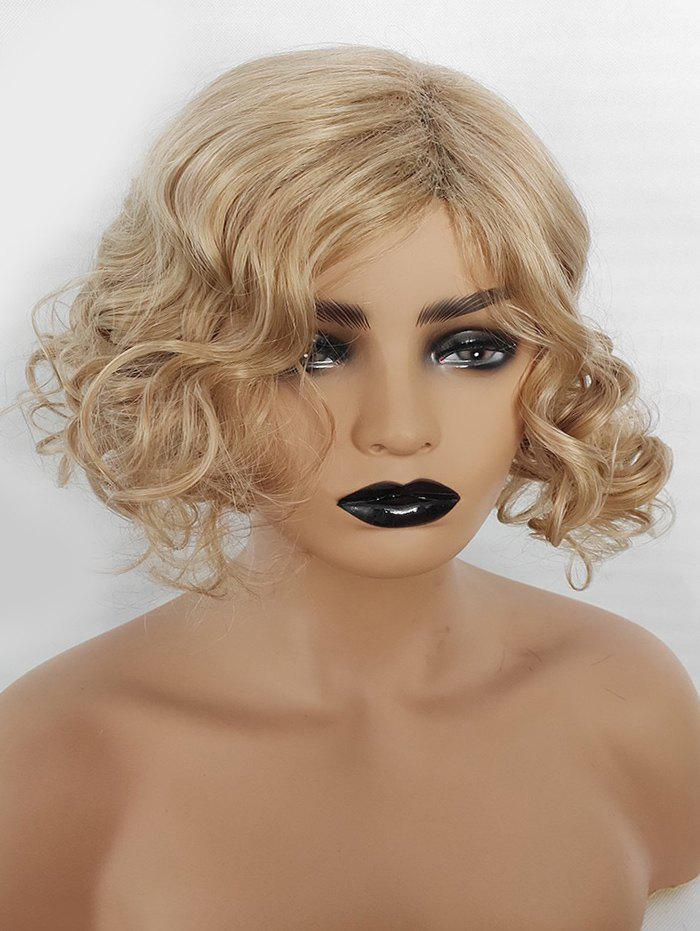 Fancy Side Part Synthetic Medium Curly Wig