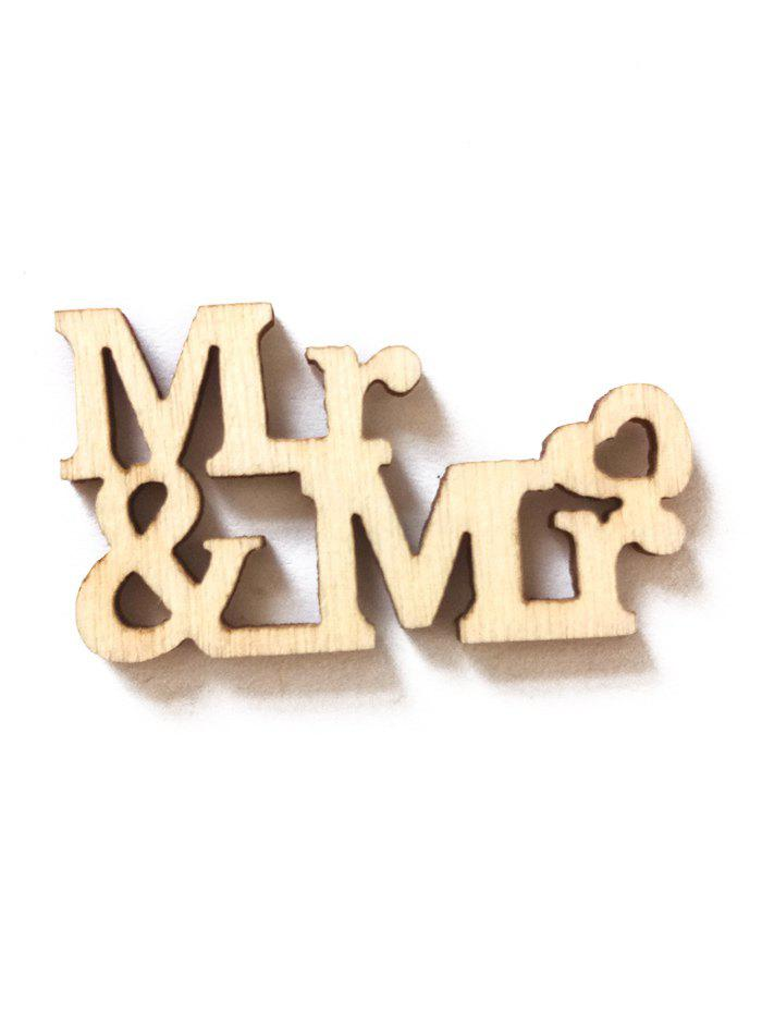 Discount 20Pcs Mr. And Mrs. Sign Wedding Decorations Wooden Board