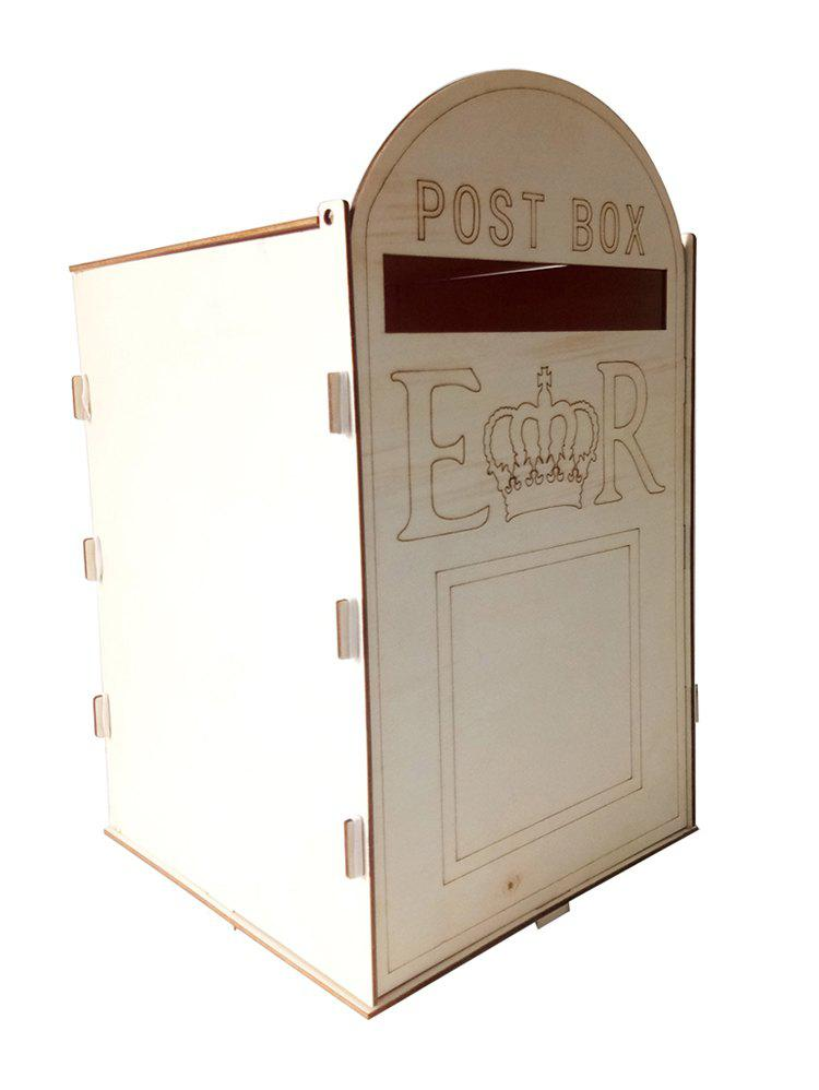 Chic Wooden Card Post Box Wedding Ornaments