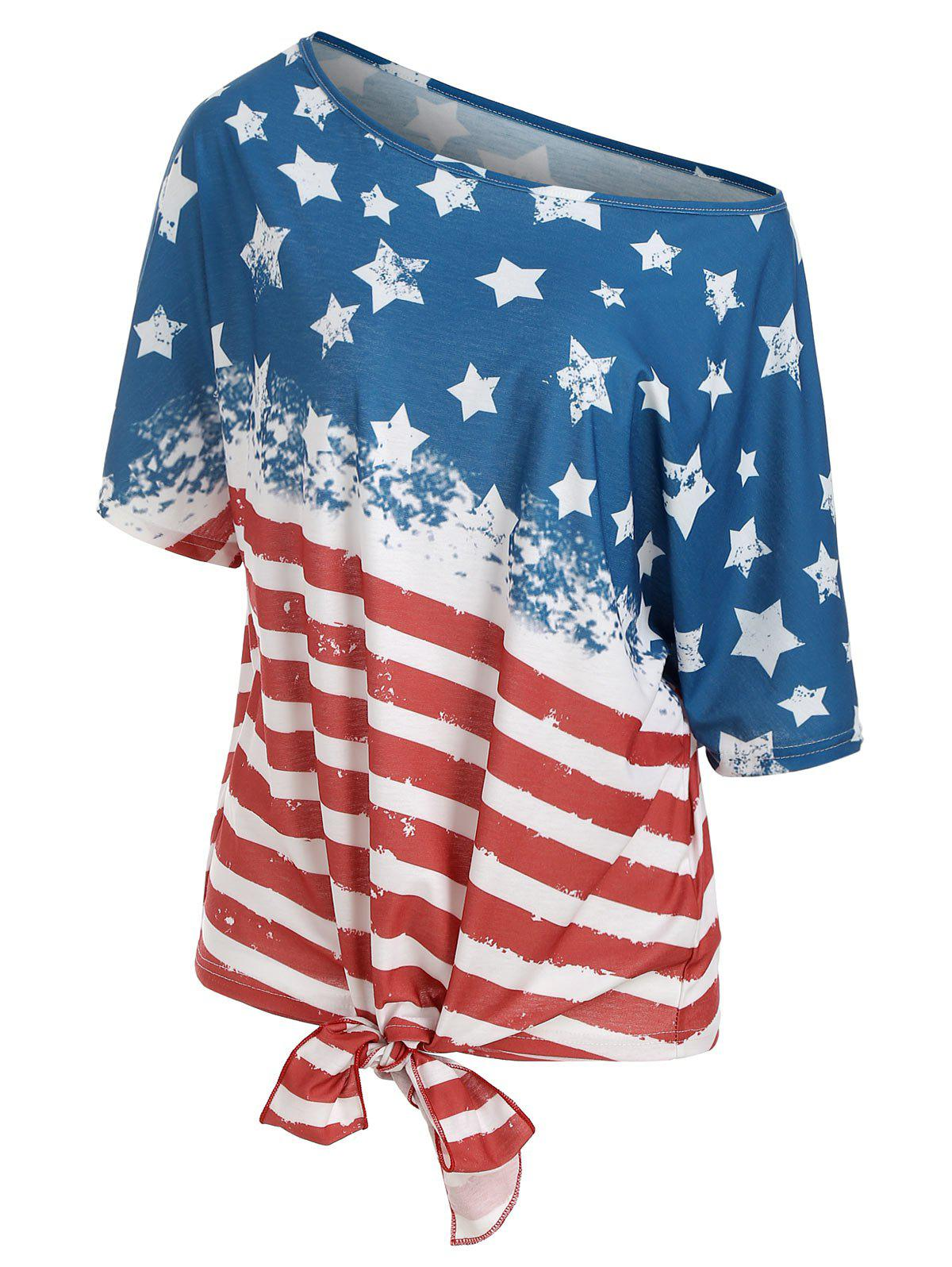 Affordable American Flag Multiway Tunic T-shirt
