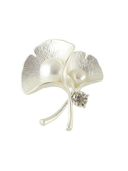 Shops Faux Pearl Ginkgo Leaf Shape Brooch