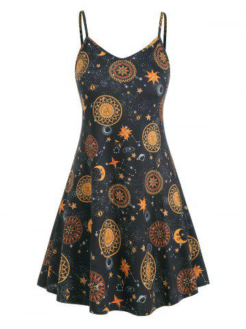 559d3eb63 Plus Size Sun Stars Moon Cami Dress