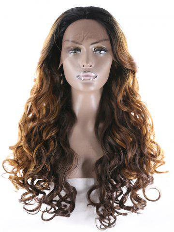 Center Part Long Natural Curly Synthetic Wig