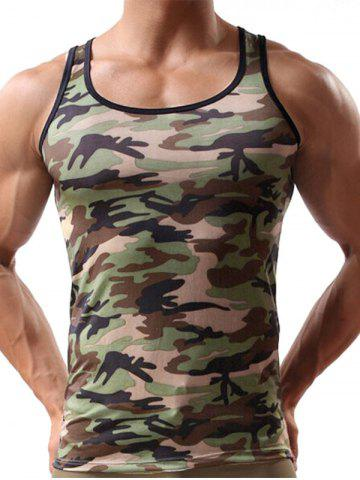 Camouflage Print Casual Tank Top