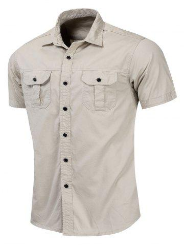 Pocket Design Button Up Casual Shirt