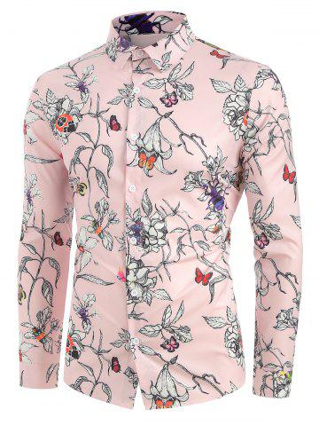 Floral Print Leisure Full Sleeves Shirt
