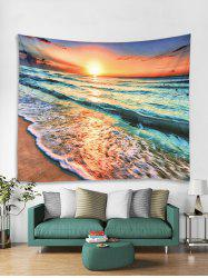 Sea Sunset 3D Print Wall Tapestry -