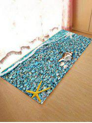 Tapis d'absorption d'eau motif de pierre Starfish Beach -