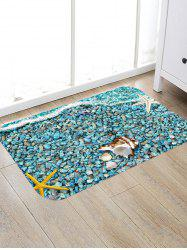 Starfish Beach Stone Pattern Water Absorption Area Rug -