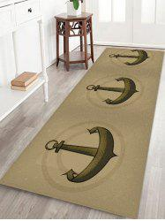 Vintage Anchor Pattern Water Absorption Area Rug -
