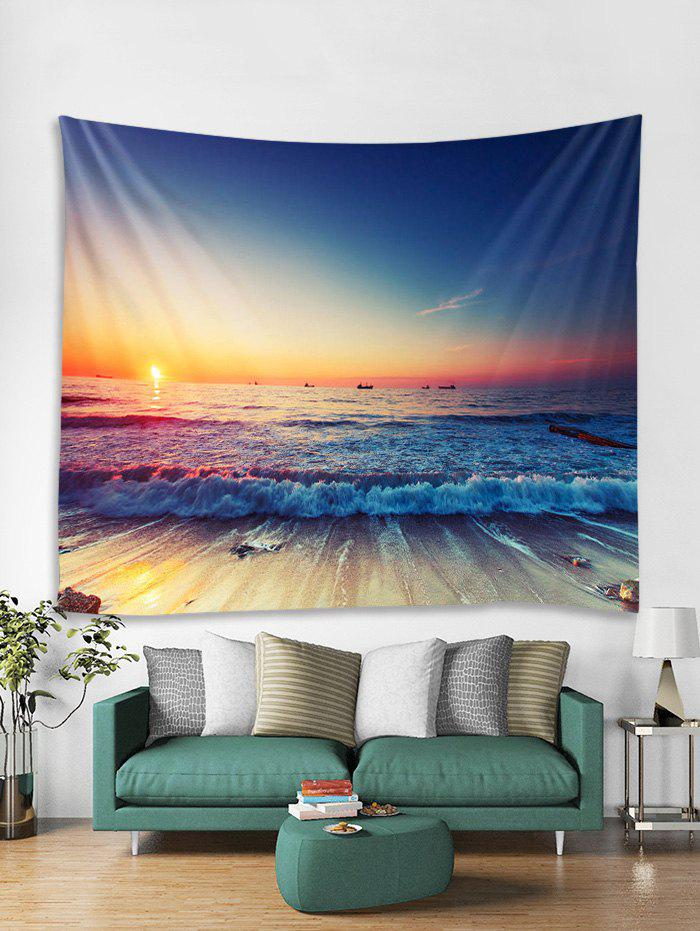 Unique Beach Sea Sunset 3D Print Wall Tapestry