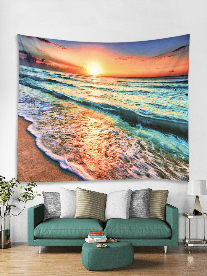 Online Sea Sunset 3D Print Wall Tapestry