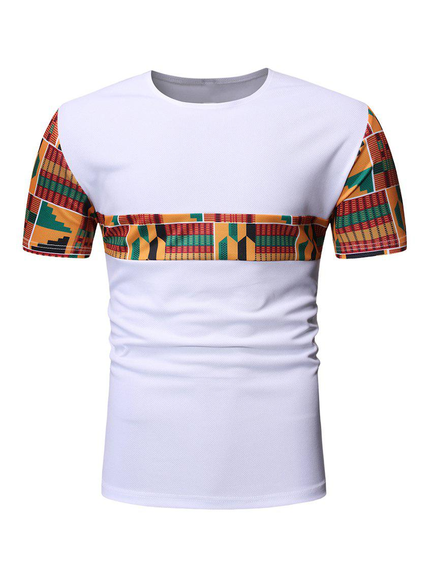 Affordable Geometric Printed Short Sleeves T-shirt