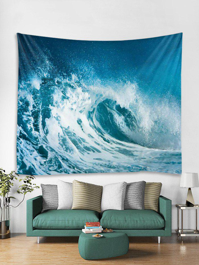 Hot Sea Wave 3D Printed Wall Tapestry