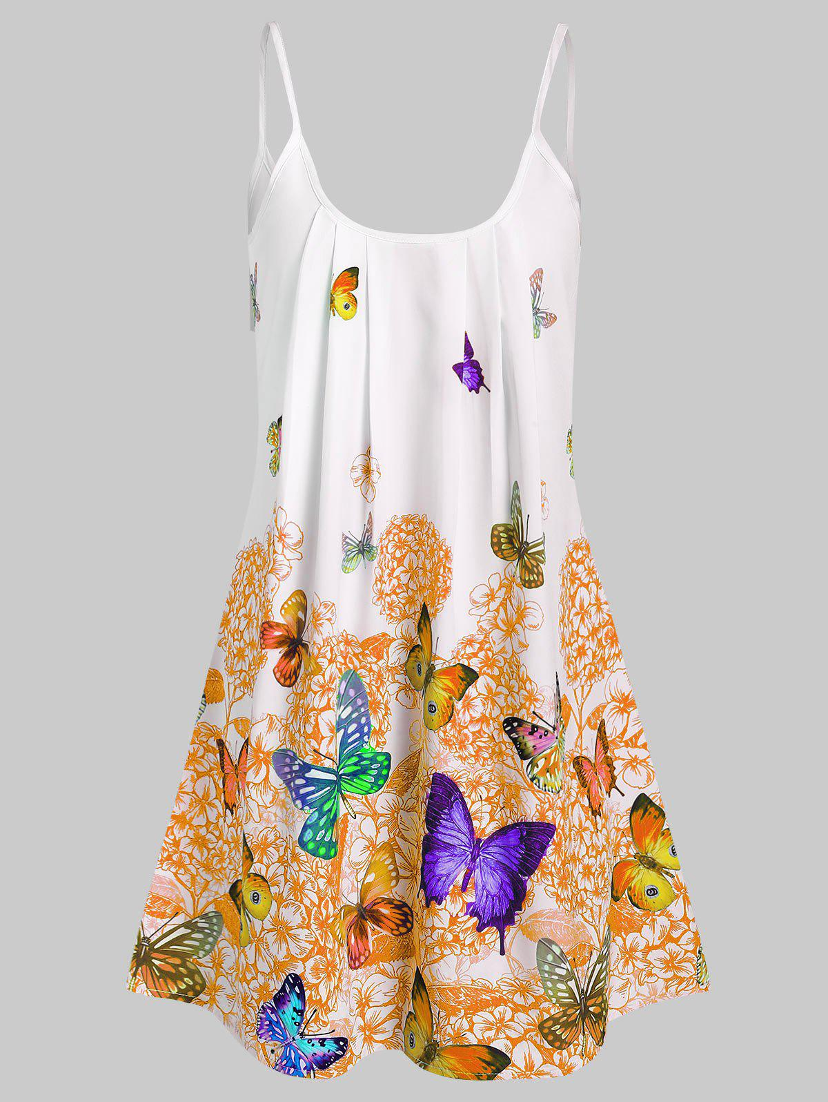 Store Butterfly Flower Cami Tunic Dress