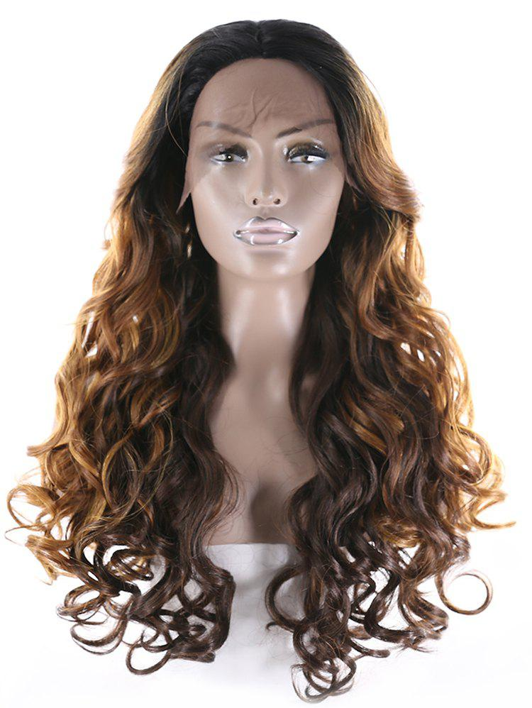 Unique Center Part Long Natural Curly Synthetic Wig