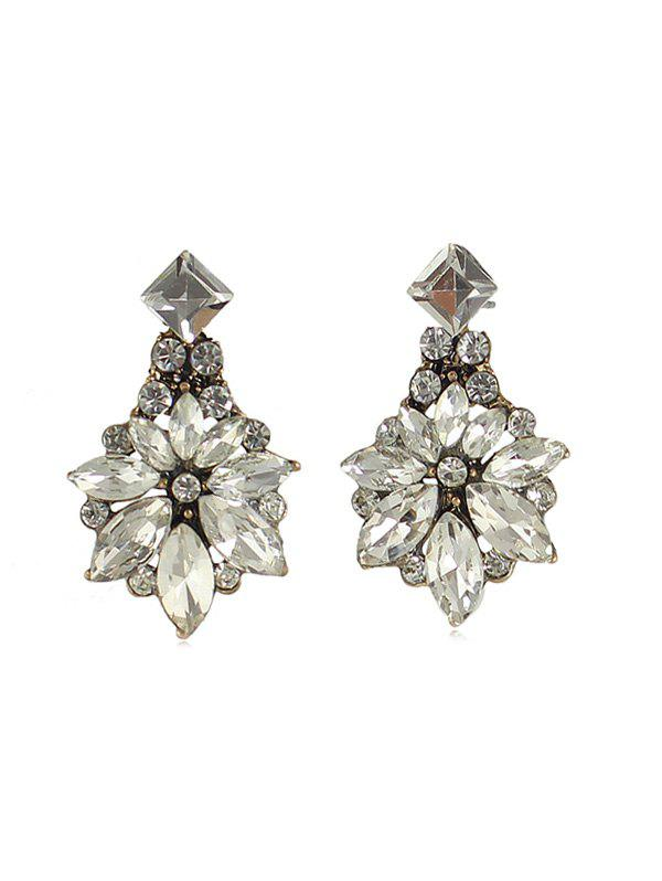 8a868ed6d 25% OFF] Retro Palace Style Floral Shape Rhinestone Earrings | Rosegal