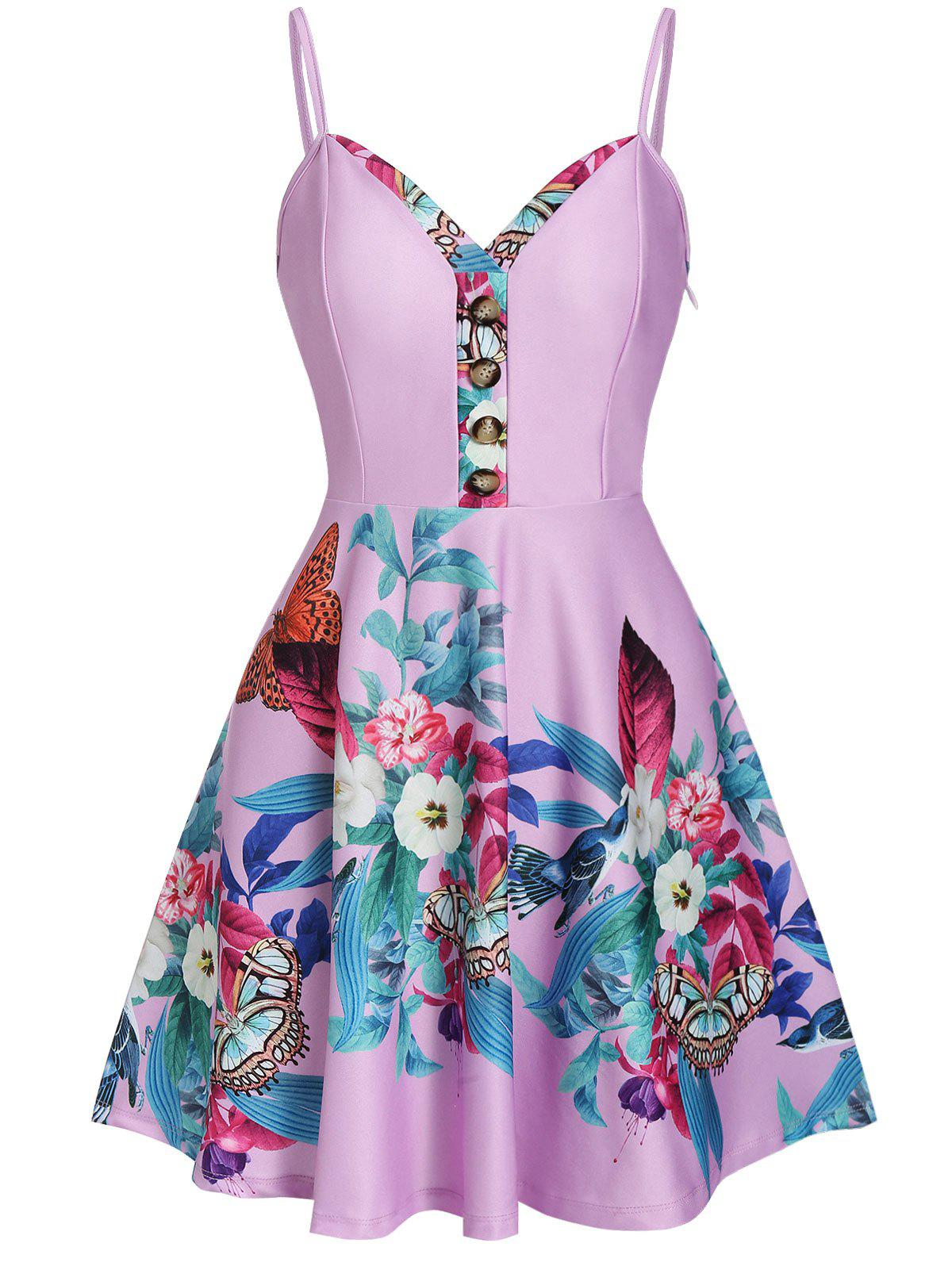 New Retro Floral Print Pin Up Dress