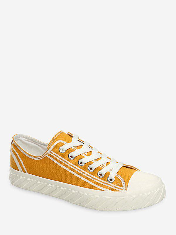 Outfits Two Tone Canvas Flat Shoes