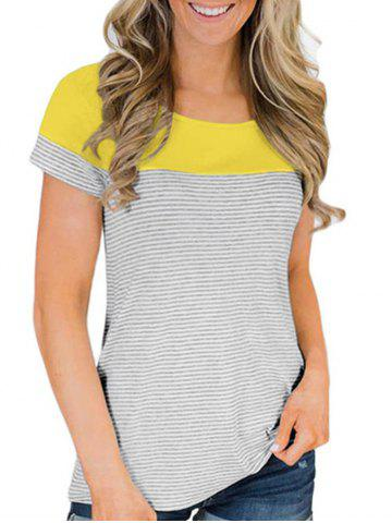 Striped Panel T-shirt